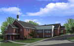 West Hyattsville Baptist Church - Front View, Revised Phase One